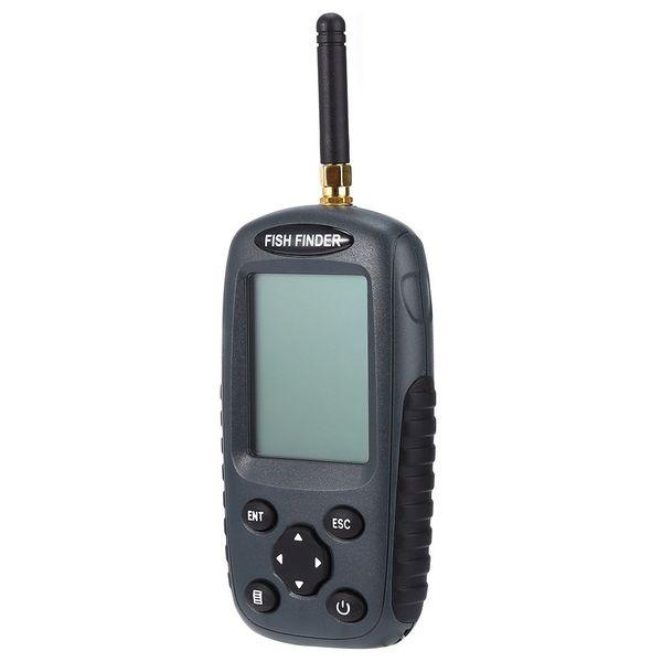 Wholesale-FF998 Portable Fish Finder High Quality Rechargeable Smart Fish Finder Pro Black Wireless Fish Finder Sonar Sensor Echo Sounder