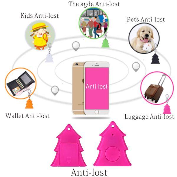 Anti Lost Wireless Bluetooth 4.0 Activity Tracker Alarm Anti-lost Remote Control Christmas tree Anti-Lost Sensor Tracker Child Bag Wallet