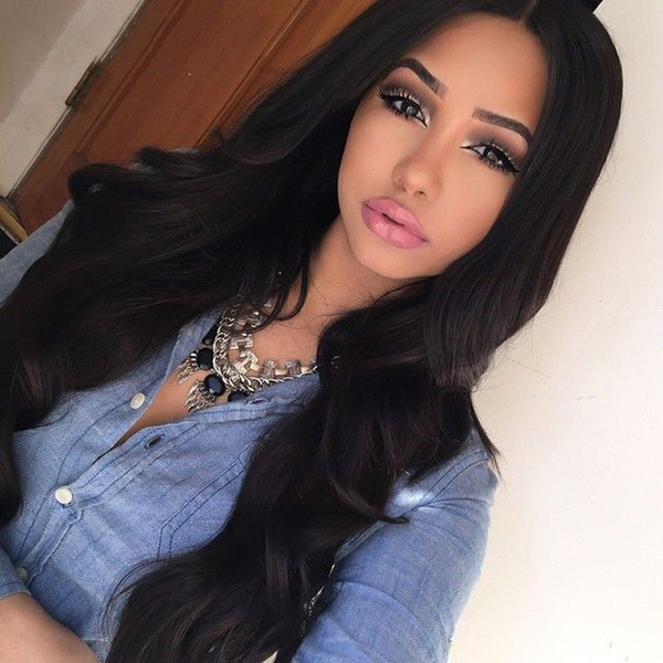 Glueless Full Lace Front Human Hair Wigs Malaysian Virgin Hair Full Lace Wigs For Black Women Wet And Wavy Full Frontal Wigs