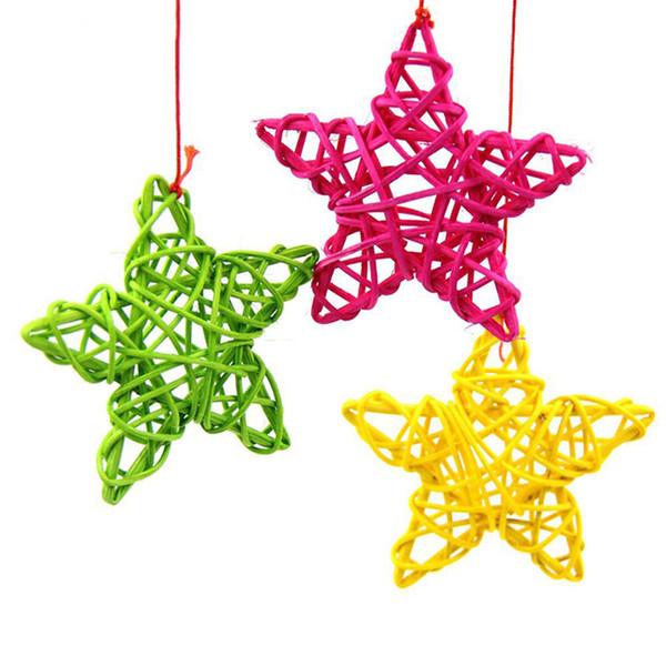 20pcs Rattan Star Christmas Wedding Party Home Decorations Kids Room Ornaments Star Rattan Ball Multi Colors New