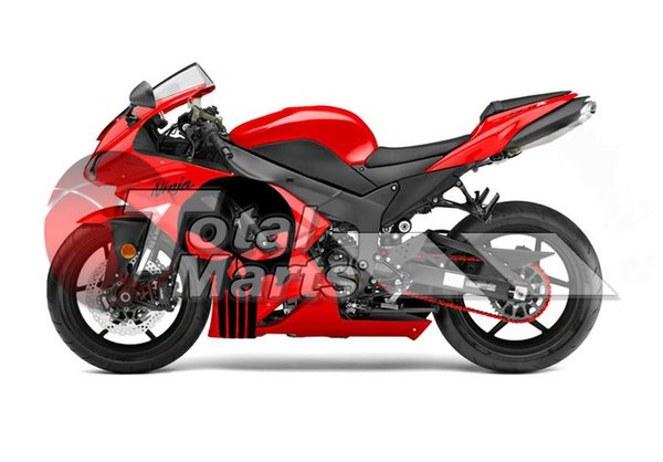 Fairing For Kawasaki ZX636 ZX6R ZX-636 ZX-6R 07 08 ABS Injection Red F76141C