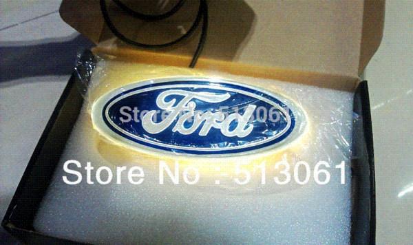 New Arrival 4D EL led car logo decorative lights For Ford Series car badge LED lamp Auto emblem led light Free shipping