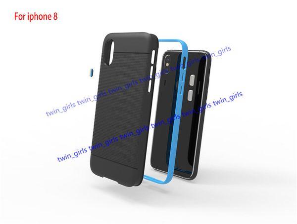 top popular For iphone8 i8 SGP Case Hybrid TPU PC Protector i8 Hybrid Armor Case Diagonals Shockproof Cover 2020