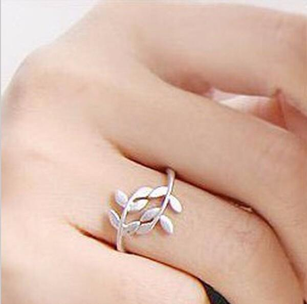 Ring For Women Christmas Gift Simple Leaf Ring - Trendy Creative Antique Retro Vintage Leaf Ring
