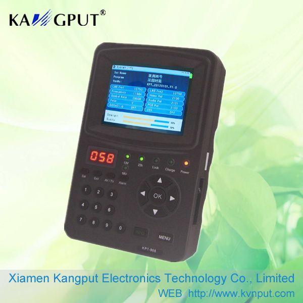 Medidor de intensidad de señal de satélite Sintonizador de TV lnb HD Buscador de antena parabólica KPT968G
