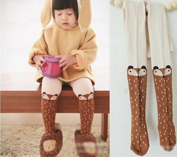 Baby Kids Girls Fox Stockings Pants Children Spring Autumn Pantyhose Cartoon Fox Cotton Soft Baby Girl Tights For Kid Kawaii