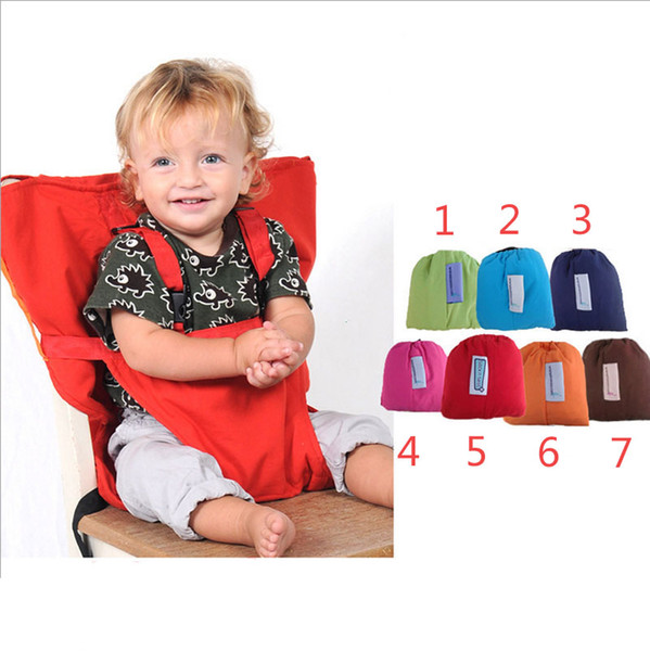 7 Color baby Portable Seat Cover Sack'n Seat Kids Safety Seat Cover Baby Upgrate Candy colors Eat Chair Seat Belt Outlet Covers B001