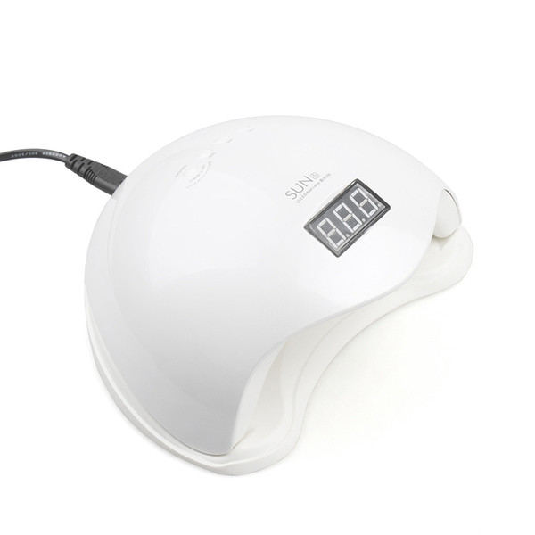 Hot 48 W UV LED Lâmpada Prego Secador SUN5 Lâmpada Prego Com Display LCD Sensor Auto Máquina de Manicure para a Cura UV Gel Polonês