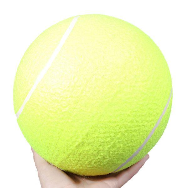 Doğum günü Partygift Büyük Dev Pet Köpek Yavru Tenis Topu Atıcı Chucker Launcher Süper Kalın Doğal Kauçuk Duvarlar ile Açık Spor Oynamak