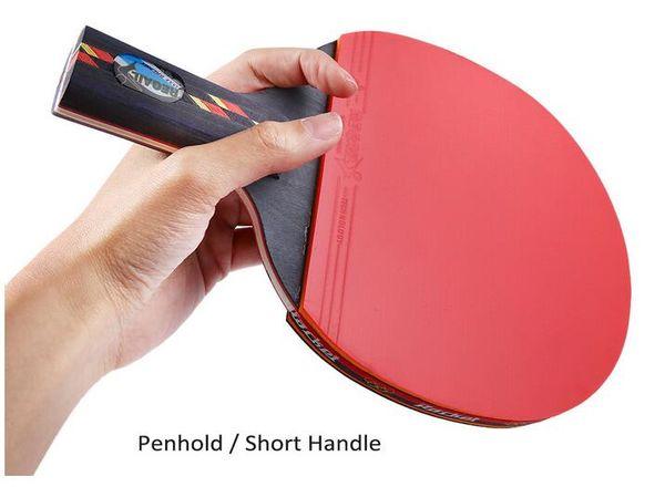 Ténis De Mesa Raquetes REGAIL Tênis De Mesa Ping Pong Raquete De Um Penhold (Alça Curta) Bat Paddle Bola 9.45x5.91 x 0.98 polegadas BZ