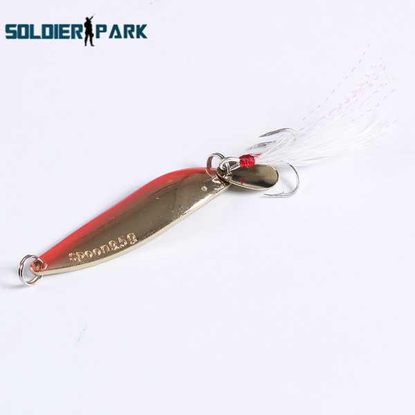 3pcs/lot Fishing Lure Tackle Culter Bass Spoon Spinner Feather Hook with Noise Long Shot Minnow Lure Bait Metal Pink Golden< order<$18no tra