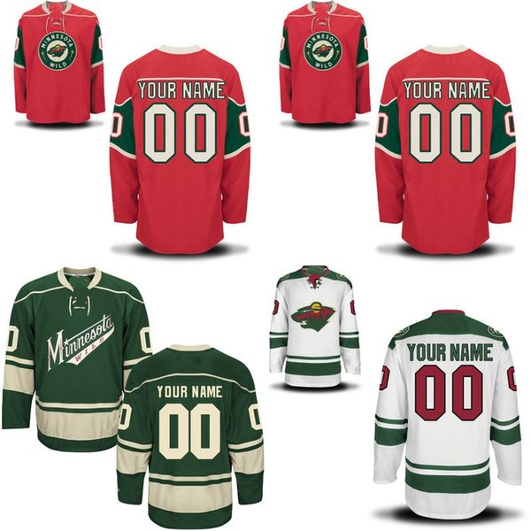 Minnesota Wild Jersey S-5XL Personalized Customized Jerseys With Any Name and Any Number 100% Stitched Embroidery Logos Hockey Jerseys