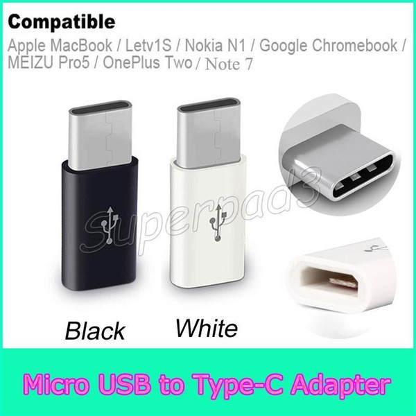 top popular Free Shipping USB 2.0 Type-C Male to Micro USB Female Mini Connector Adapter Type C Data Cable Adapter For Apple MacBook Note7 2021