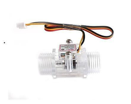 Wholesale-YF-S201C Transparent Flow Meter Water flow sensor Precision Flowmeter Turbine Flowmeter G1/2 DN15