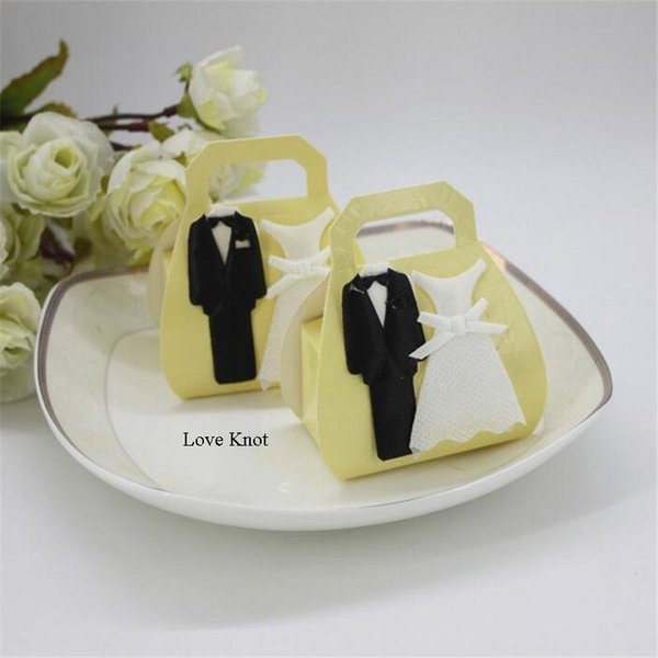 24Pcs Wedding Decoration Candy Box Bride And Groom Candy Bag Wedding Favor Box Gift Boxes Craft Paper Chocolate Box