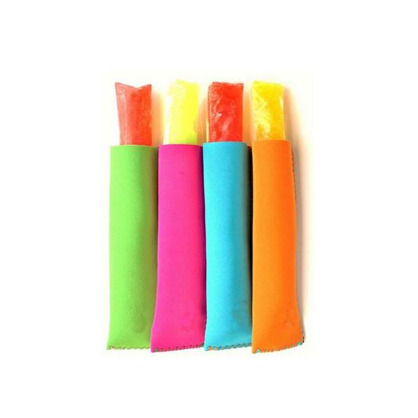 top popular 300pcs Wholesale Popsicle Holders Pop Ice Sleeves Freezer Pop Holders 15x4.2cm for Kids Summer Kitchen Tools 10 color ZA0828 2019