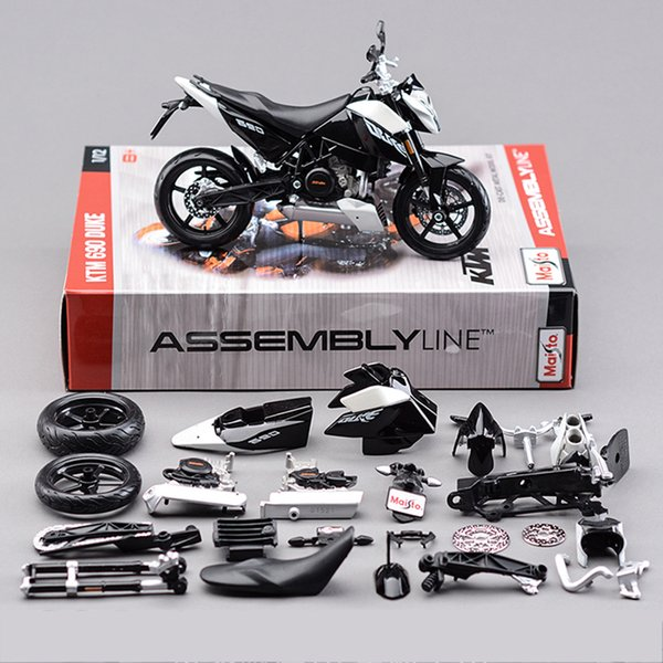 1:12 690 DUKE 3 Motorcycle Model Building Kits 1/12 Assembly Toy Kids Gift Mini Moto Diy Diecast Models Toy For Gift Collection