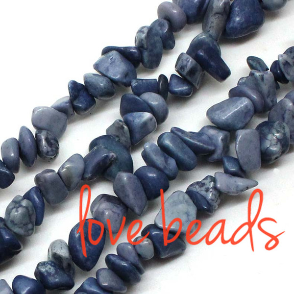 5mm-8mm Freeform Gravel Faint Blue Natural Turquoise Chips Loose Beads Irregular Strand 80CM For wholesale (F00362) wholesale