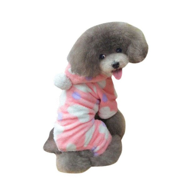 2016 hot sale polar fleece Cute Pet dog clothes Puppy dog costume Clothes Sweetie Outwear Jumpsuit Apparel pink love home