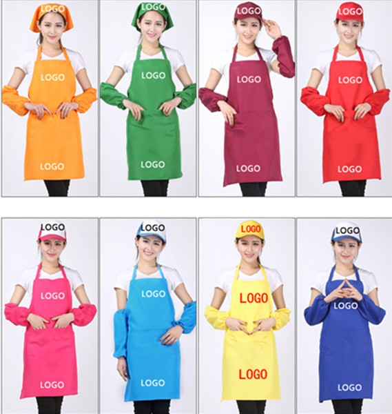top popular 11 Colors Adult Aprons Pocket Craft Cooking Baking Art Painting Adult Kitchen Dining Bib Aprons Aprons Free Shipping A-0381 2020