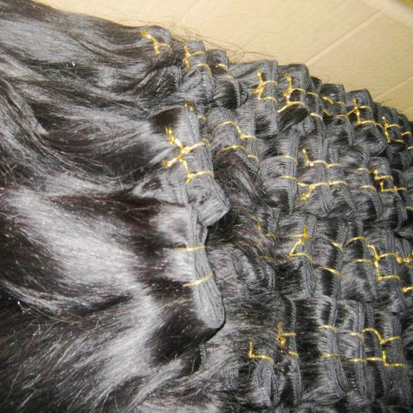 Paquete agradable 10pcs / lot recta tramas del cabello humano peruano suave tramas paquetes baratos de armadura