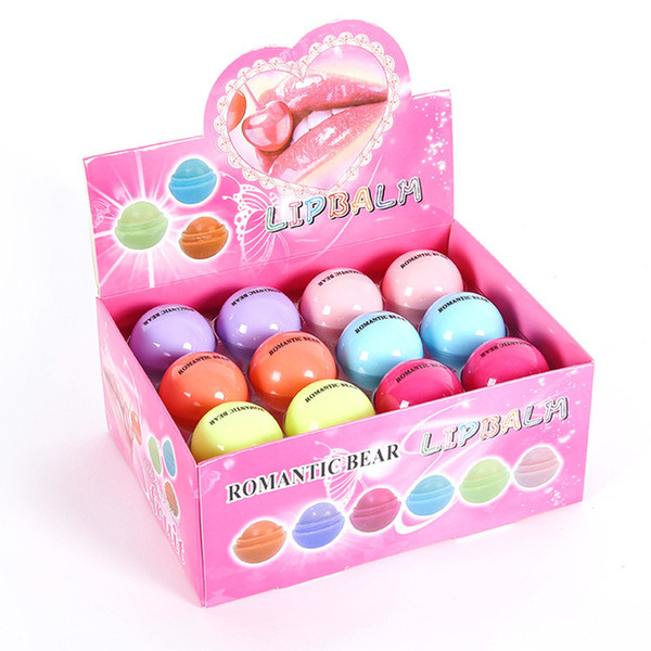 best selling 3D Lipstick New Makeup Round Ball Moisturizing lip balm Natural Plant Sphere lip Pomade lip balm Fruit Embellish lips Care Free Shipping