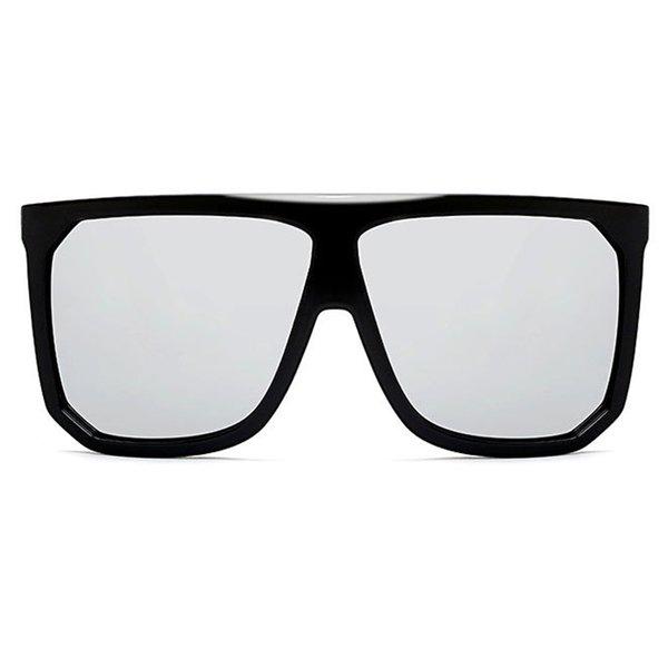 C5 Glossy Black Frame Silver Mirror