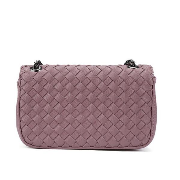 Wholesale- Pure manual weaving woman single shoulder bag Fashion women bag knitting chain small Bags