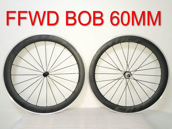 Bob FFWD R6R 60mm Alloy R39 Hubs Black Decals Alloy Aluminum Wheelset Road Carbon Fiber Wheels