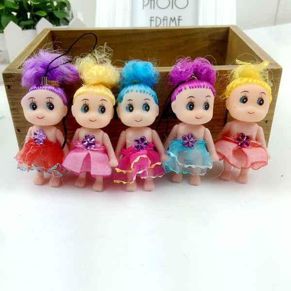 New Mini Ddung Doll Best Toys Gift for Girl Confused Doll Key Chain Phone Pendant Ornament mini doll keychain