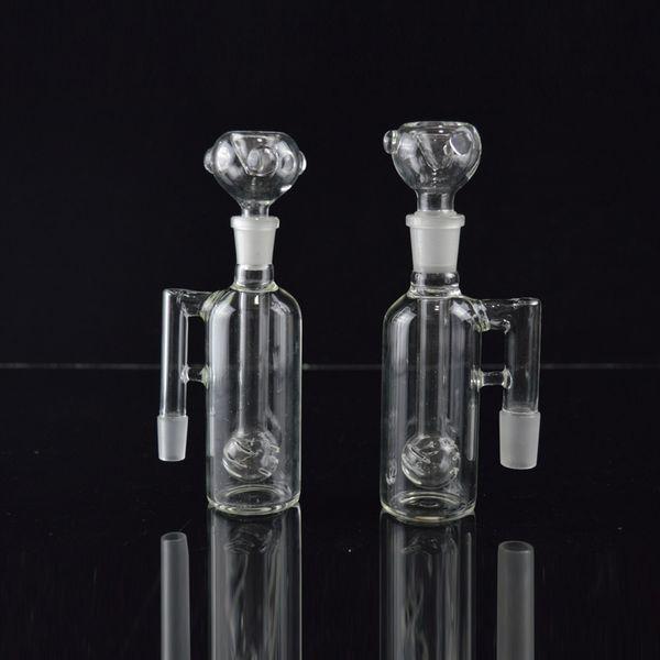 Klarglas Esche Catcher Glas Bongs Abtupfen Öl Rigs Crystal Ball Perc Aschfänger 18,8 mm Shisha Shisha im Angebot