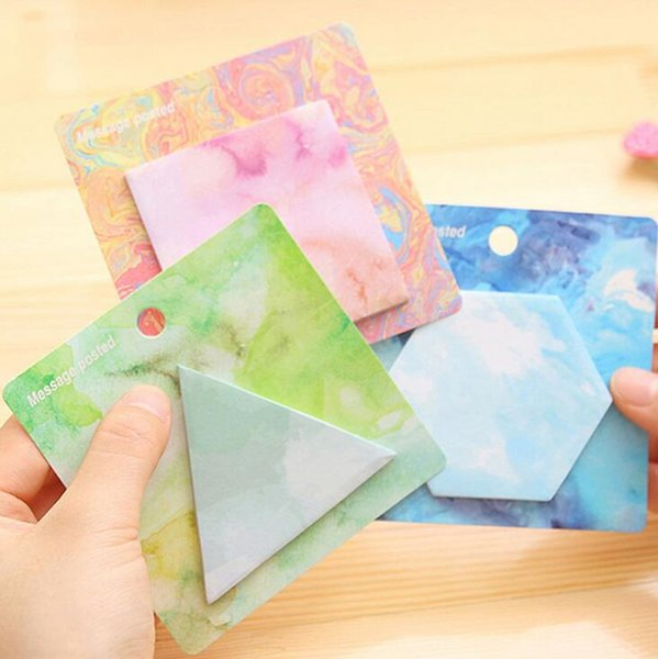 Personalized Painting Shape Self-Adhesive Memo Pad Sticky Notes Post It Bookmark School Office Supply