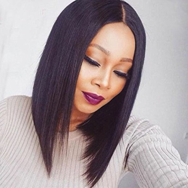 Bob Human Hair Wigs Short Straight Lace Front Wig Bob Hairstyle Human Hair Full Lace Wig Brazilian For Black Women