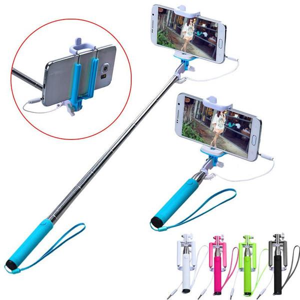Handheld Mini Extendable pau de Self-Pole Tripod Selfie Stick Monopod camera for samsung galaxy S5 S4 S6 for iPhone 5s 6s #LYFE5