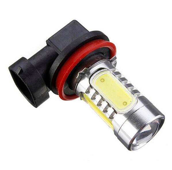 Alta qualità H11 7.5W ad alta potenza COB LED Lampadina auto sorgente luminosa Proiettore DRL Guida Fendinefaro Xenon bianco DC12V