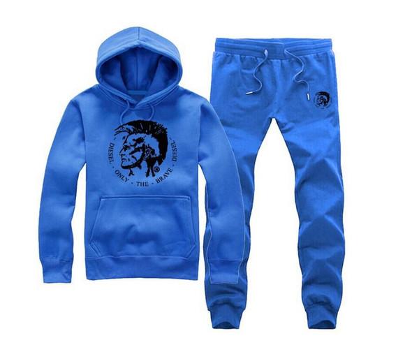 Men Tracksuits Brand Male Long Sleeve Hoodie Diese Pocket Sweatshirt Mens Diamond Supply sweat suit (S-5XL)