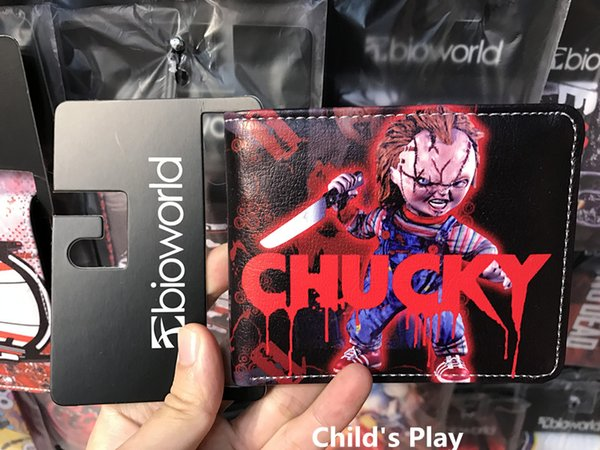 Hot Movie Seed Of Chucky Short Wallet Anime Card Holder for Men and Women Birthday Christmas Gift Vintage Curse Of Chuck Triloquist Doll