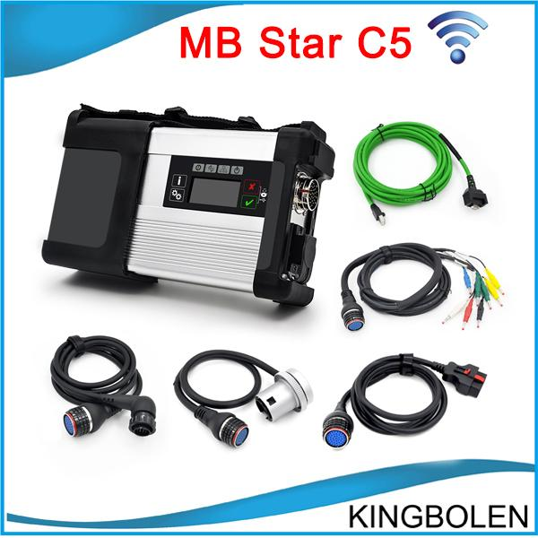 2017 Newly MB Star C5 wifi MB SD Connect Compact 5 Diagnostic tool for Mercedes benz Newest V2016.03 in 500MB HDD for Cars and Trucks