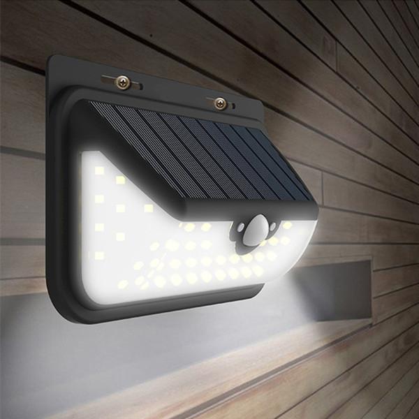 Solar PIR LED Wall Lights 800LM 68LED Garden Balcony Lamps Outdoor Waterproof Hallway House Parking Lighting Motion Sensor Remote Controller