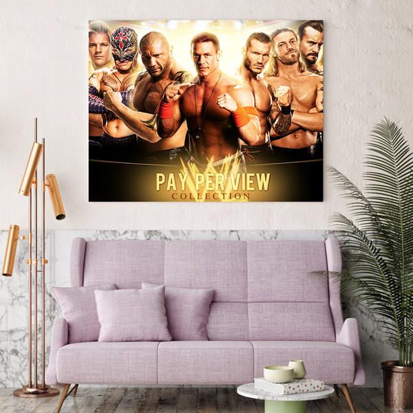 1 pezzo stampato in HD John Cena The Rock Poster di tela Telaio Hoom Decor Poster Pittura a olio Immagini a parete per soggiorno
