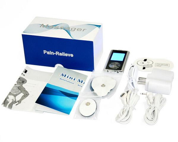 Massaggio elettronico a dieci dita con agopuntura, mini massaggiatore a bassa frequenza, bruciare i grassi Perdita di peso Massaggio terapia piccola scatola gratuita da DHL