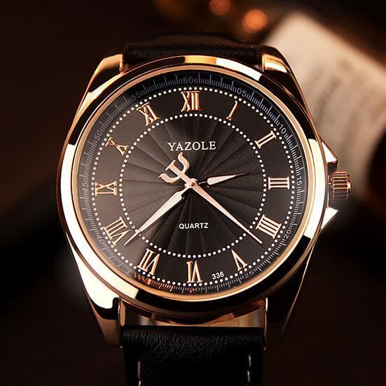 336 Ya Zhuolun nuevo reloj de oro escala romana hombres de negocios de gama alta ver hombres ver reloj de cuarzo al por mayor