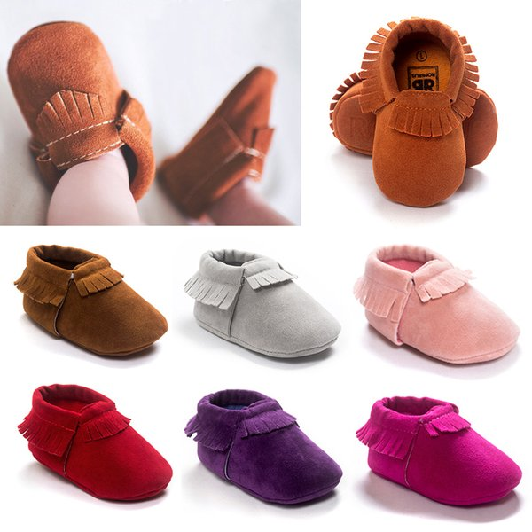 New Grind arenaceous feeling Handmade baby moccasins tassel Girls and Boys Toddler shoes Spring and winter model 4289 6pairs free ship