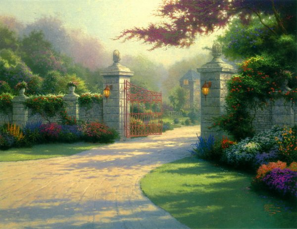 Thomas Kinkade Landscape Larger Painting Reproduction High Quality Giclee Print on Canvas Modern Art Decor TK074