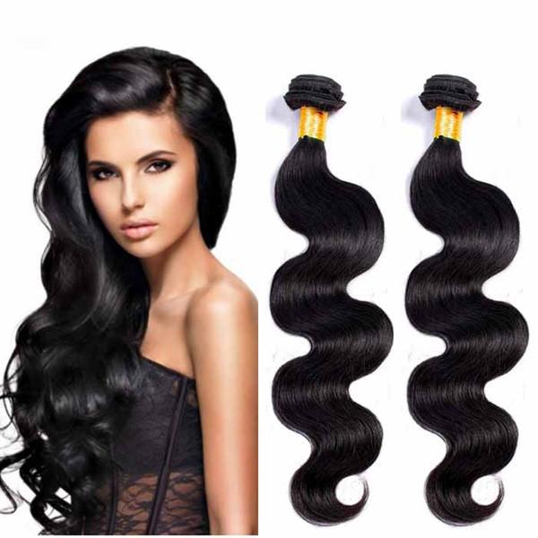 Brasilianisches malaysisches russisches Körper-Wellen-Haar spinnt 7A Große preiswerte Haarverlängerungen Unverarbeitetes 4pc natürliches Farben-Inder remy Menschenhaar