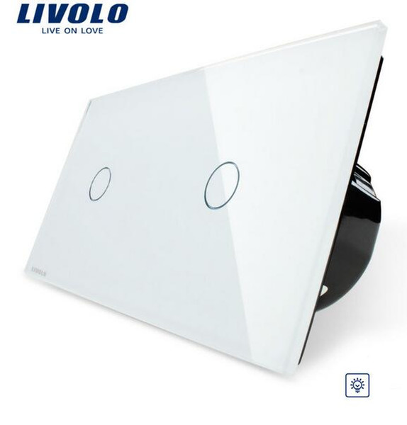 livolo wall Switch Ivory White,Dimming Touch Screen Control, Tempered Glass Panel, Light Wall Home Switch, VL-C701D-11/VL-C701D-11