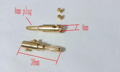 10pcs Gold plated Copper Speaker 4mm Banana Plug for Audio Jack Cable ADAPTER