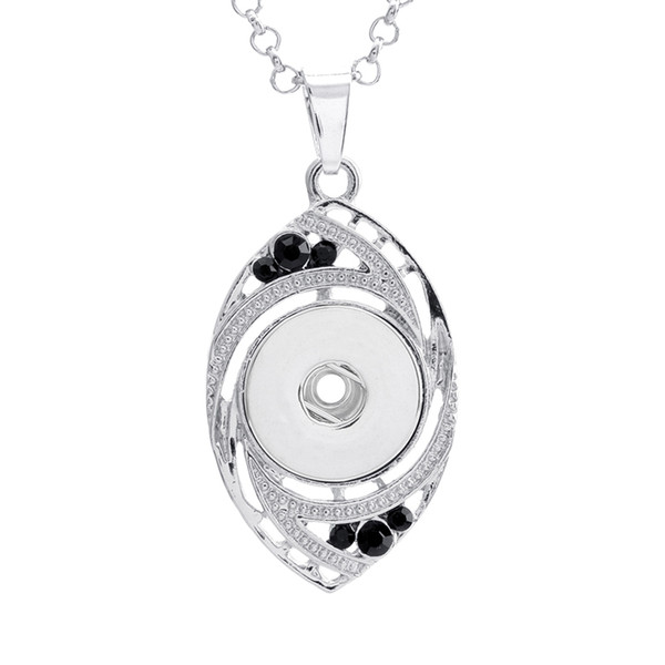 Hot Sale Xl0016 Rhinestone Beauty Diy Beauty Snap Pendant Necklace Fit 18mm Beauty Snap Buttons Fashion Snap Jewelry