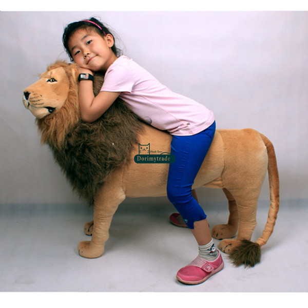 Dorimytrader 43'' / 110cm Domineering Large Stuffed Soft Plush Simulated Animal Lion Toy Great Gift Photography Props Free Shipping DY60768