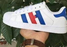 White/red/blue